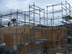 ランタサルミログハウス 組み上げ完了(愛媛県松山市近郊松前町 2棟目)