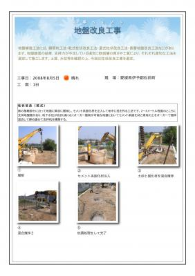 愛媛県伊予郡松前町 N様邸ログハウス着工『地盤改良』