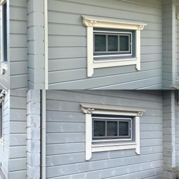 ログハウスの塗装メンテナンス、木の家塗装、ログハウス高耐久塗装