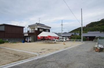 松山市北斎院町にて地鎮祭 フィンランドログハウス
