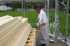木の家(平屋)が上棟しました。 (愛媛県東温市)