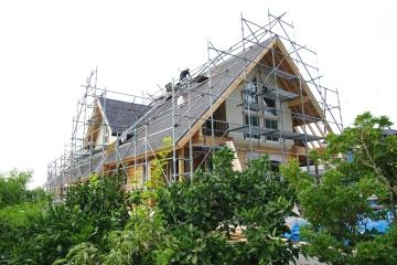 北欧住宅フィンランドログハウス 木製サッシ&断熱材&塗装工事 愛媛県新居浜