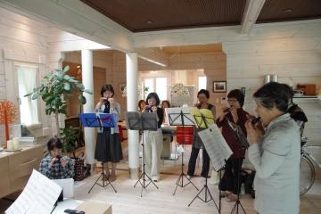 フィンランドログハウスで奏でるオカリナ演奏会 ForestCrewモデルハウス・ログハウス展示場
