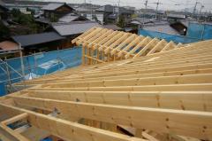 「北欧住宅」ランタサルミログハウス 屋根工事 (愛媛県伊予郡松前町)