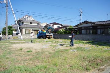 北欧平屋住宅 フィンランドログハウス着工しました。(愛媛県松山市)