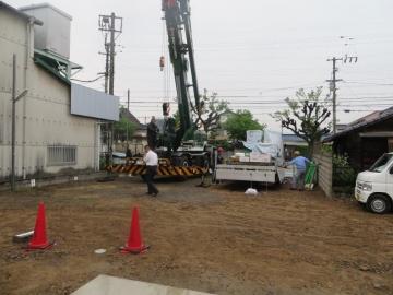 ログハウス組み上げスタート(愛媛県 松山市 動物病院 北欧平屋フィンランドログハウス)