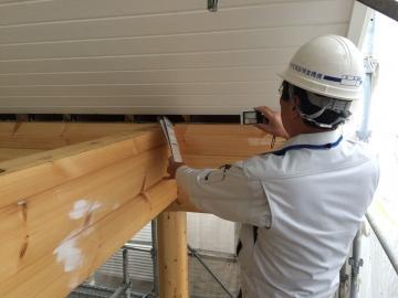 徳島県F様邸フィンランドログハウス フラット35・JIO中間構造検査