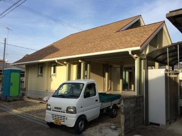 徳島県F様邸フィンランドログハウス 足場が解体されました!