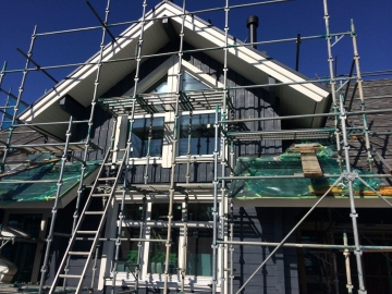 フィンランドログハウス ガラス屋根・タイル貼りエクセレントバス工事(松山市衣山)