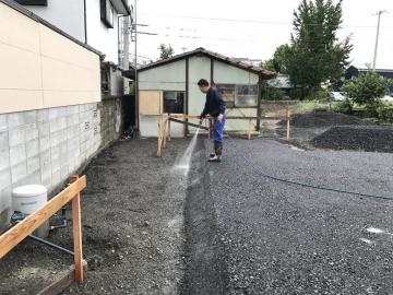 北欧ログハウス ベタ基礎工事中 in愛媛県西条市