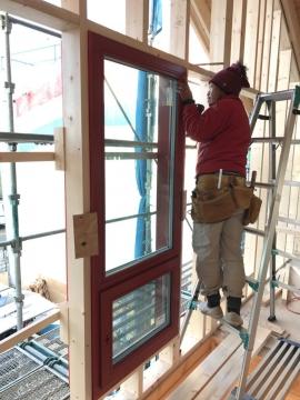 北欧ログハウス トリプルガラス木製サッシ・高気密高断熱工事 in愛媛県西条市