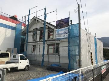 北欧ログハウス 北欧照明、バルコニー工事 in愛媛県西条市