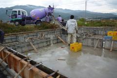 Forest Crew の ログハウスベタ基礎工事2(コンクリート養生期間中)四国 愛媛県