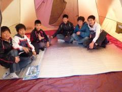 こども達とキャンプ(松山市野外活動センター レインボーハイランド)