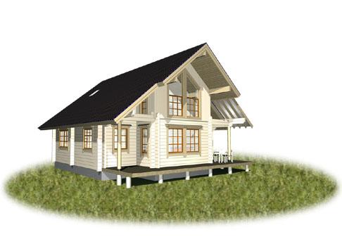 大きな三角屋根の北欧住宅 フィンランドログハウス構造見学会開催 愛媛県西条市