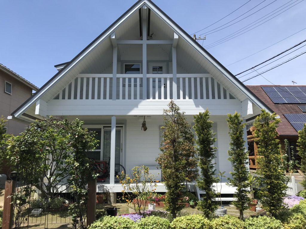 松山市砥部町のログハウスメンテナンス17年目の再感動!満足度120%でした。