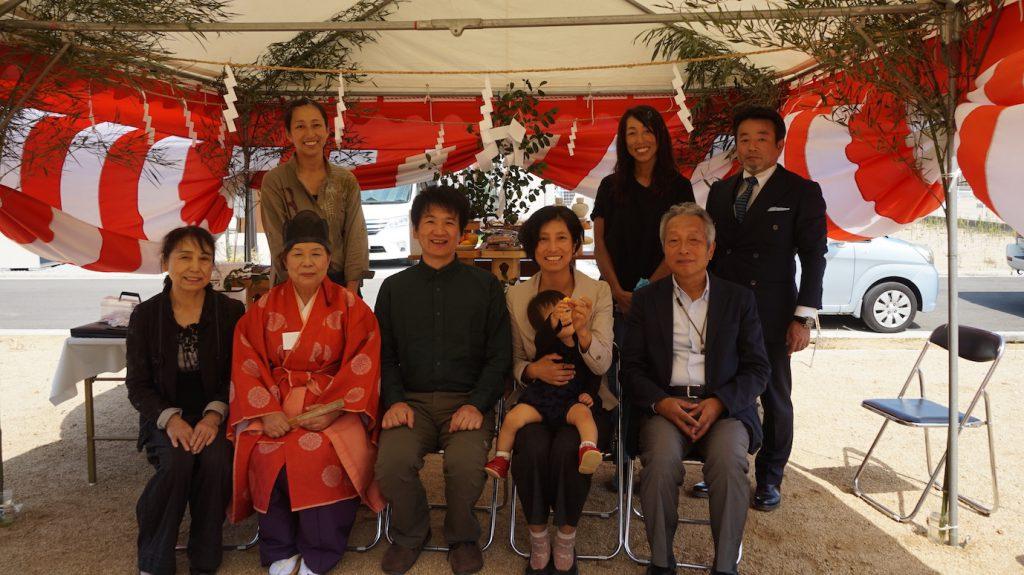 香川県高松市 大型分譲地のログハウス 北欧住宅新築工事 地鎮祭