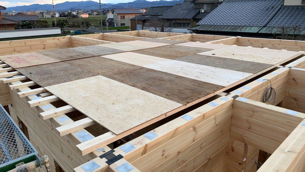 香川県高松市 大型分譲地のログハウス 北欧住宅新築工事 ログハウス上棟の準備