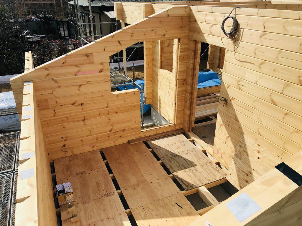 香川県高松市 大型分譲地のログハウス 北欧住宅新築工事  ログハウスのやっとくべき防水