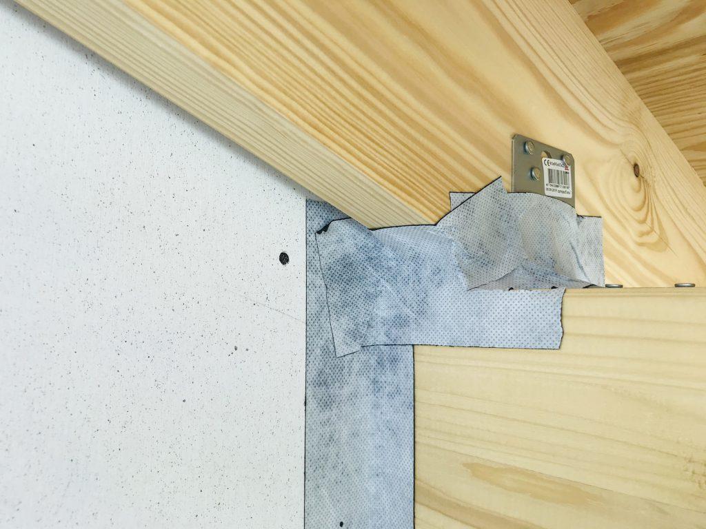 香川県高松市 大型分譲地のログハウス 北欧住宅新築工事 ログハウスの防水工事