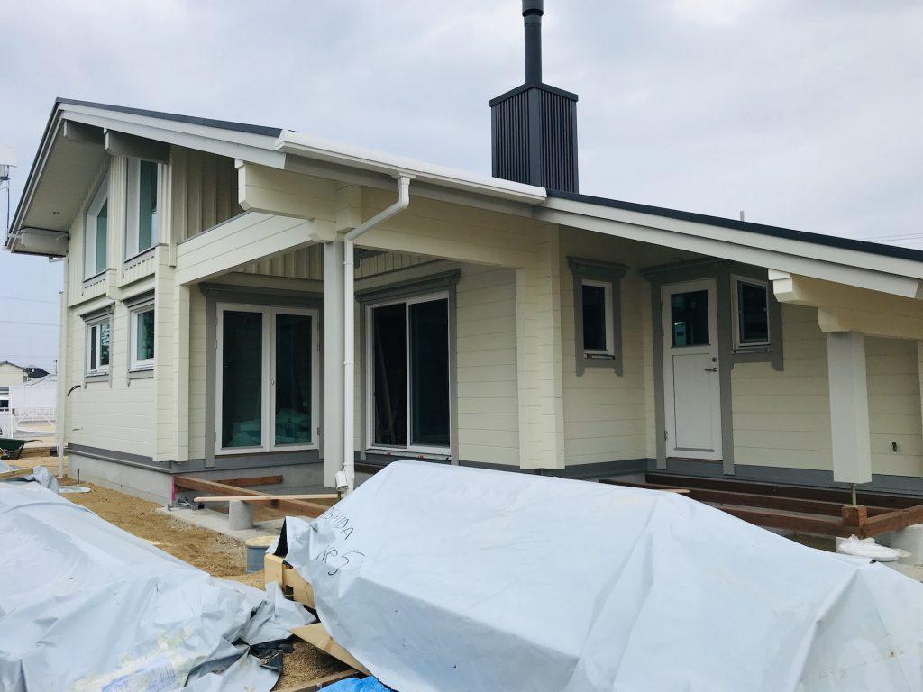香川県高松市 大型分譲地のログハウス 北欧住宅新築工事