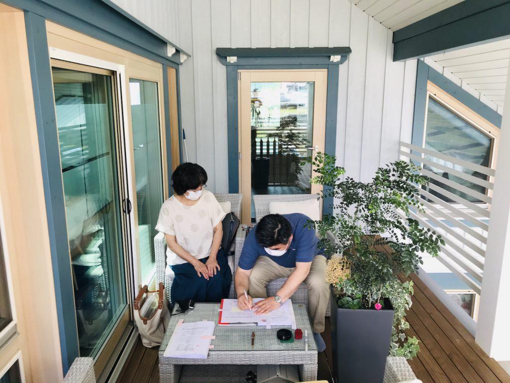 自由設計・フリープラン・オーダーログハウス ログハウス請負契約有難うございました!愛媛県今治市大三島 別荘の様な自宅ログハウス