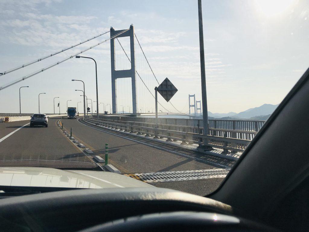 愛媛県今治市 しまなみ海道ログハウス 造成現場早朝パトロール