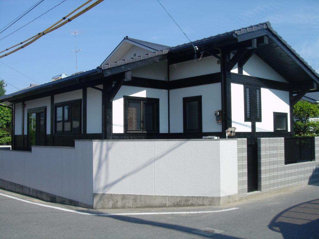 Post & Beam LOG House 築後16年目のメンテナンス&再塗装 210角ポスト&ビーム