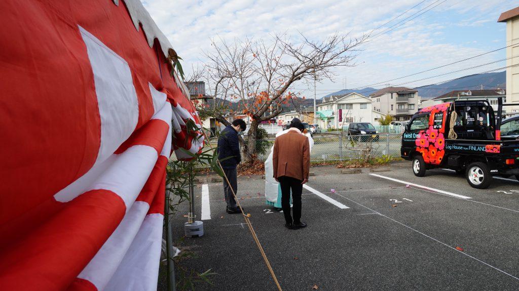 愛媛県大洲市 北欧ログハウス 地鎮祭